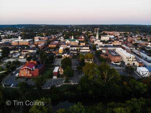 Downtown Fredericksburg VA by Drone