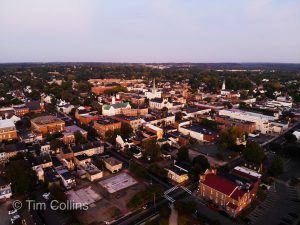 Downtown Fredericksburg VA by Drone