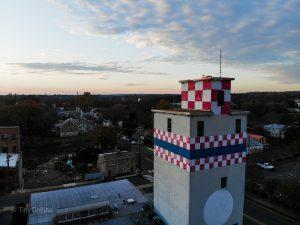 Purina building by drone in Fredericksburg VA