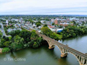 The train bridge in Fredericksburg VA