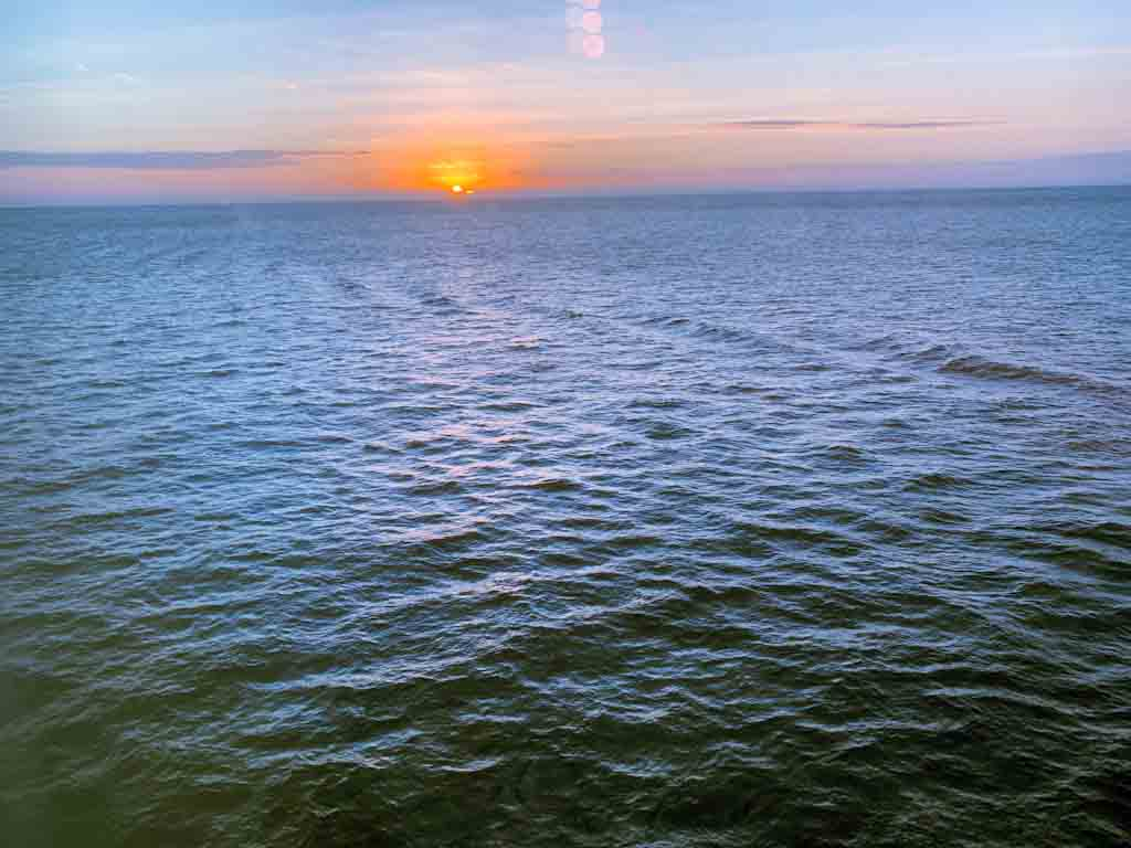 Sunrise as we passed Cuba