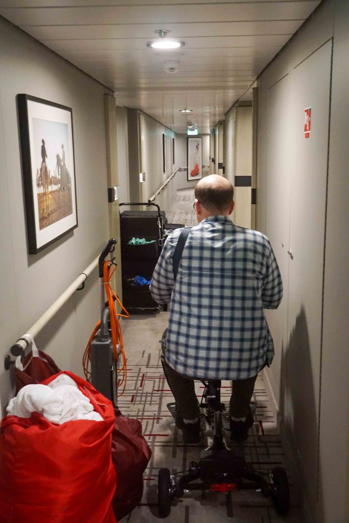 Glion SnapNGo in the hallway of the Celebrity Edge